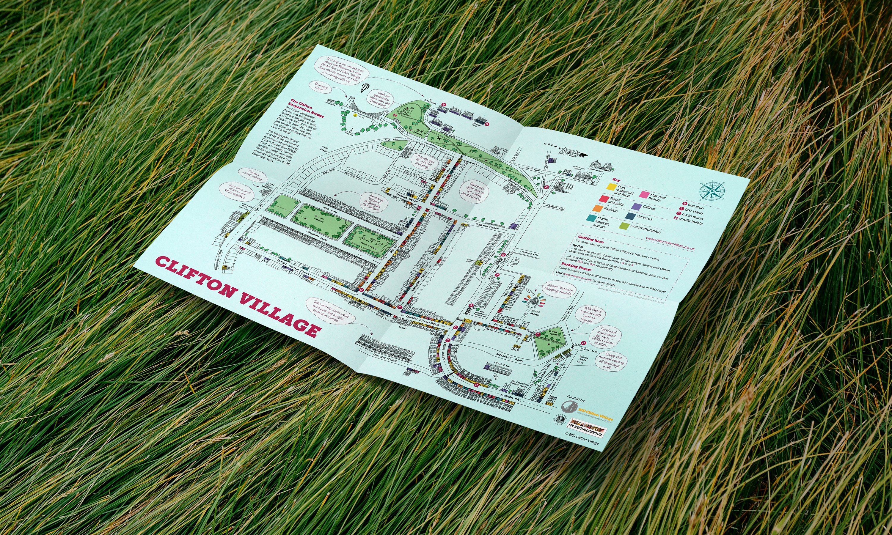 Discover Clifton Map Leaflet front art