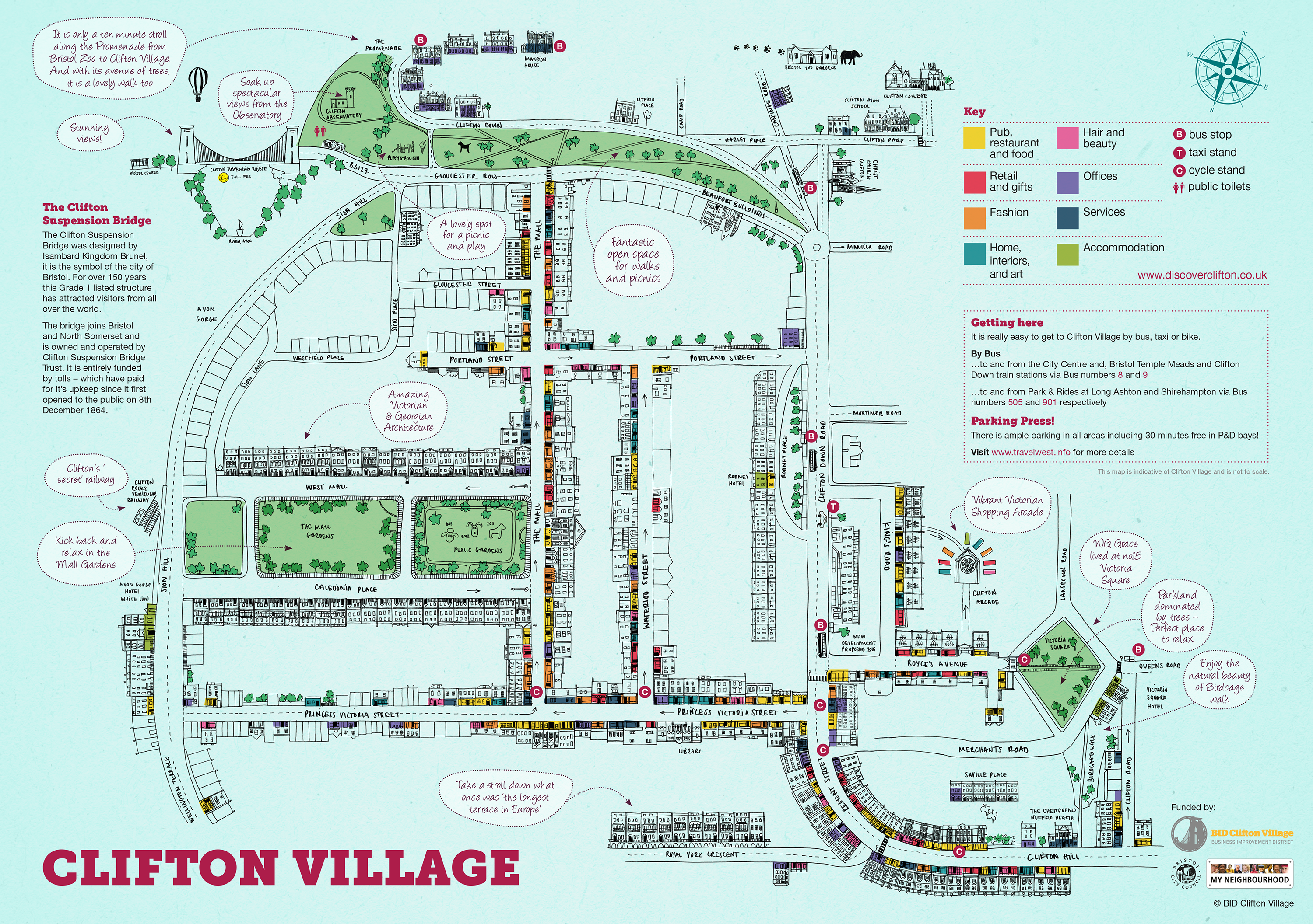 Discover Clifton Map Leaflet front