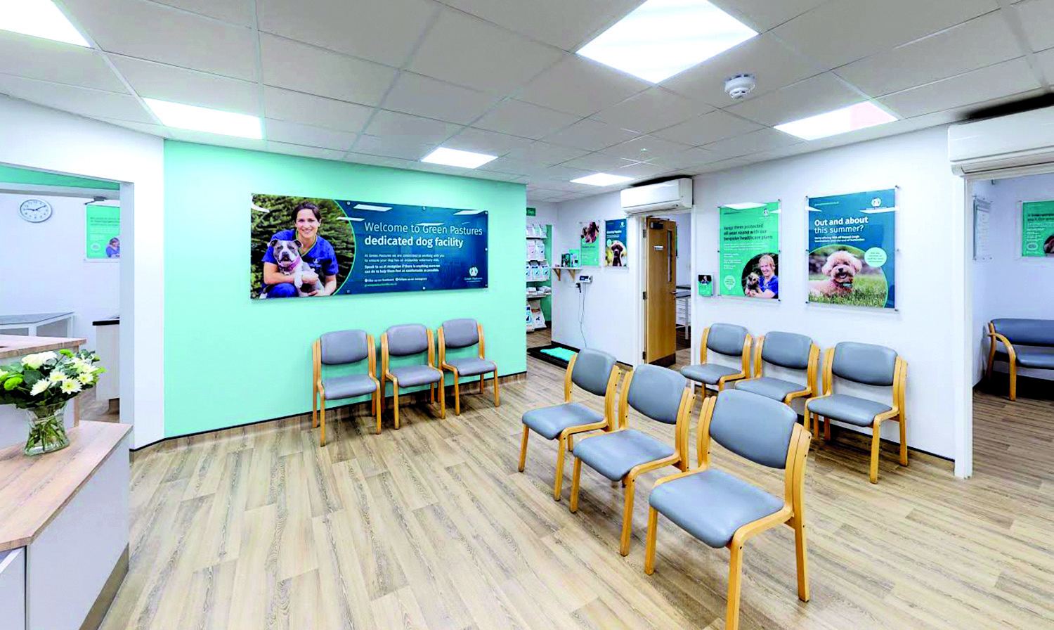 Green Pastures Vets - waiting room