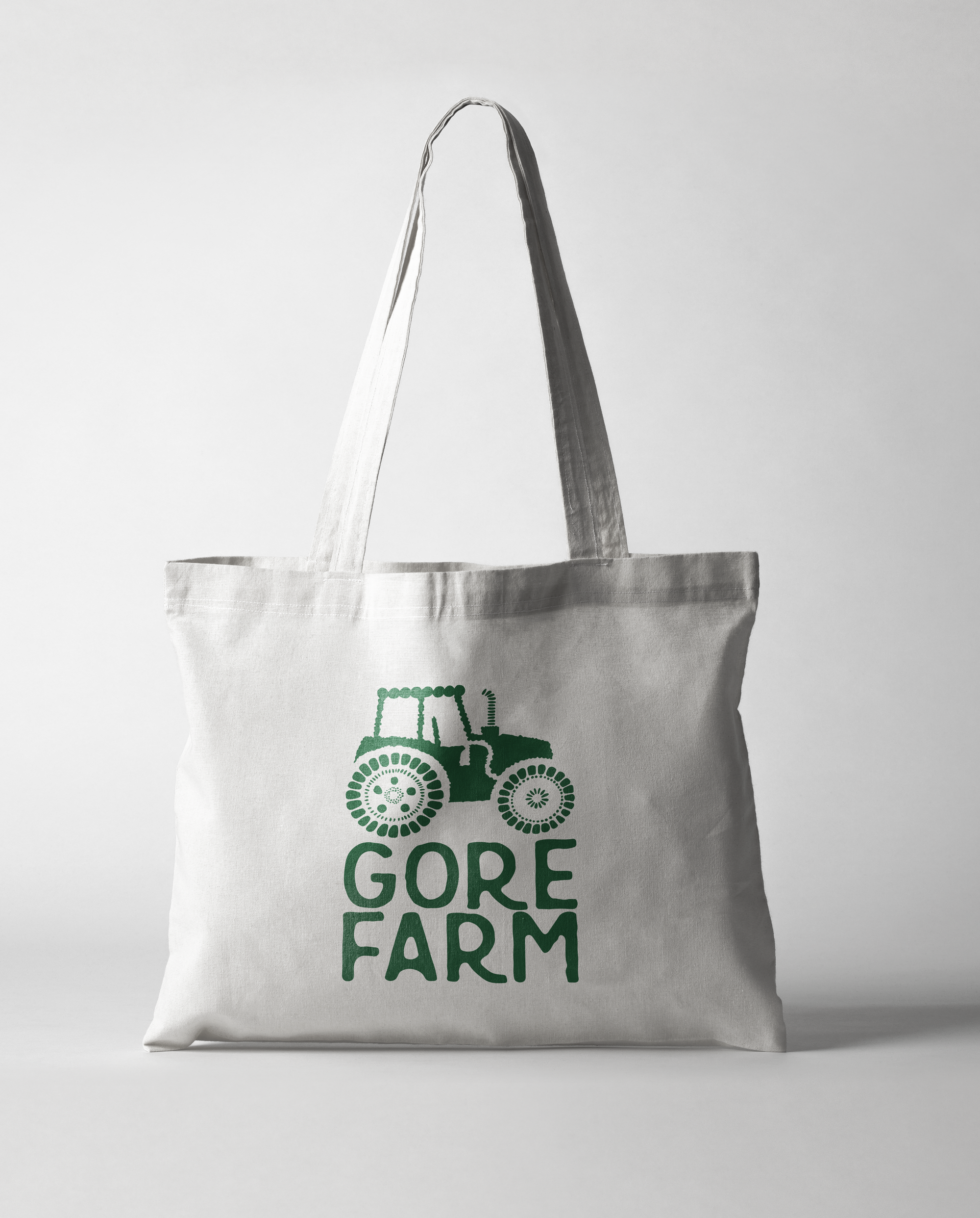 Gore farm logo printed on tote bag