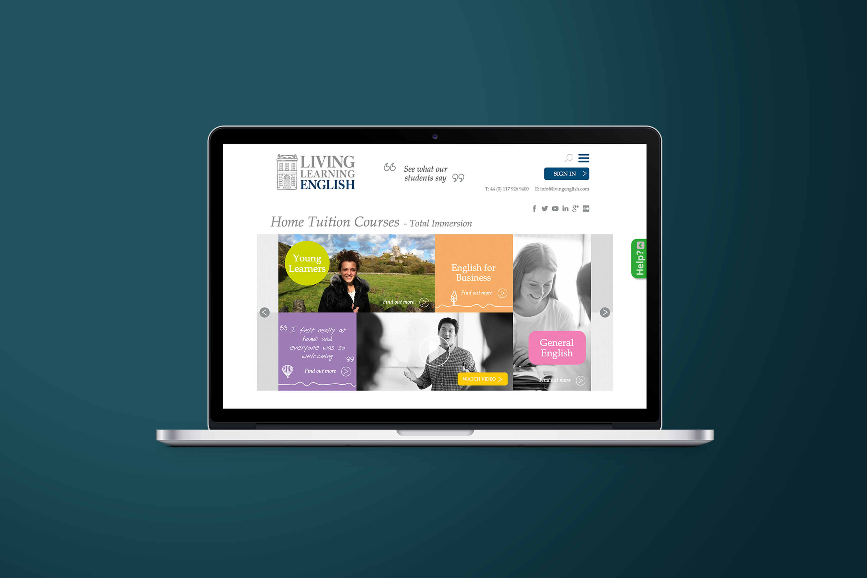 Living Learning English Logo website