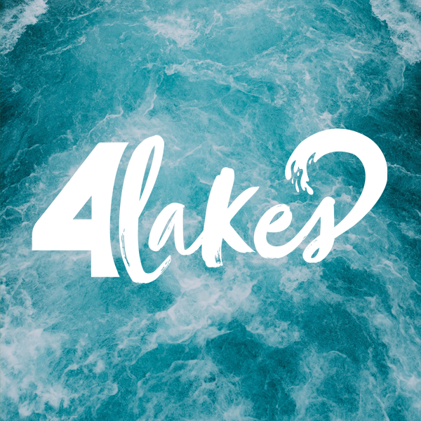 logo created for 4lakes, a Cotswold-based Watersports company.