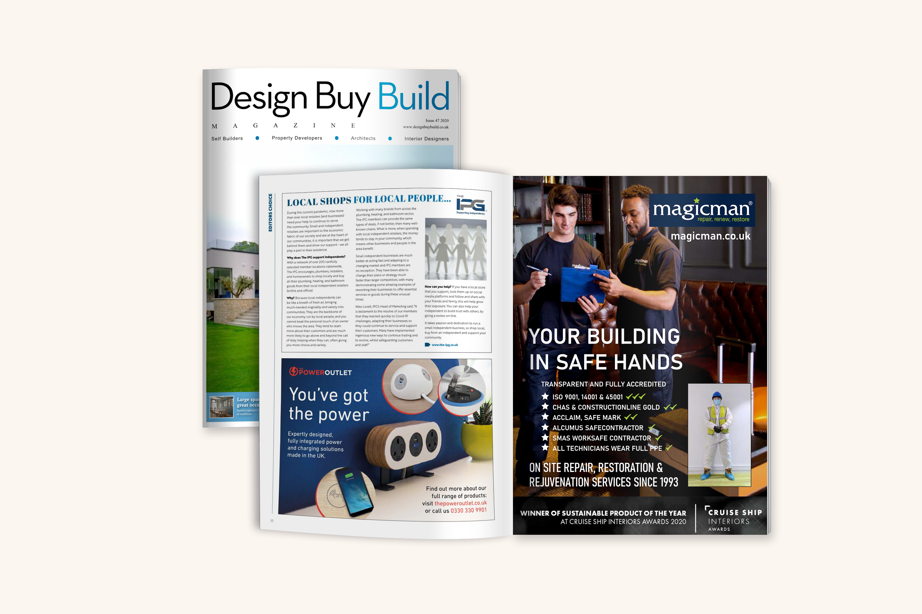 The Power Outlet - Design buy build magazine advert