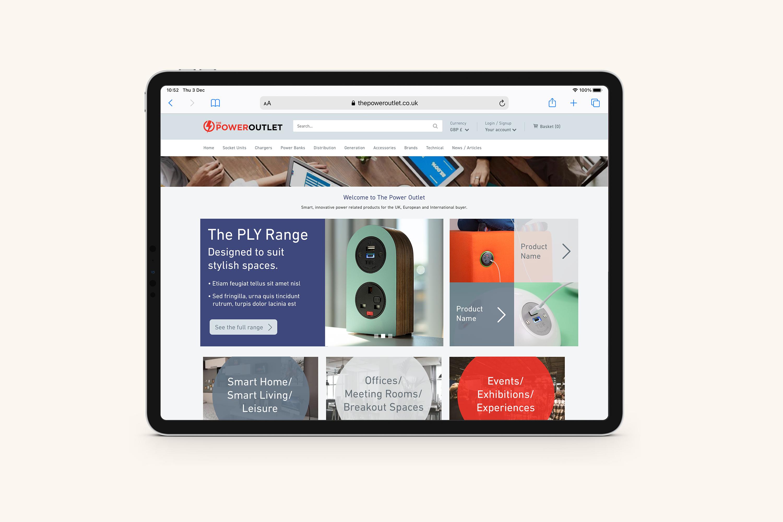 The Power Outlet - Website design