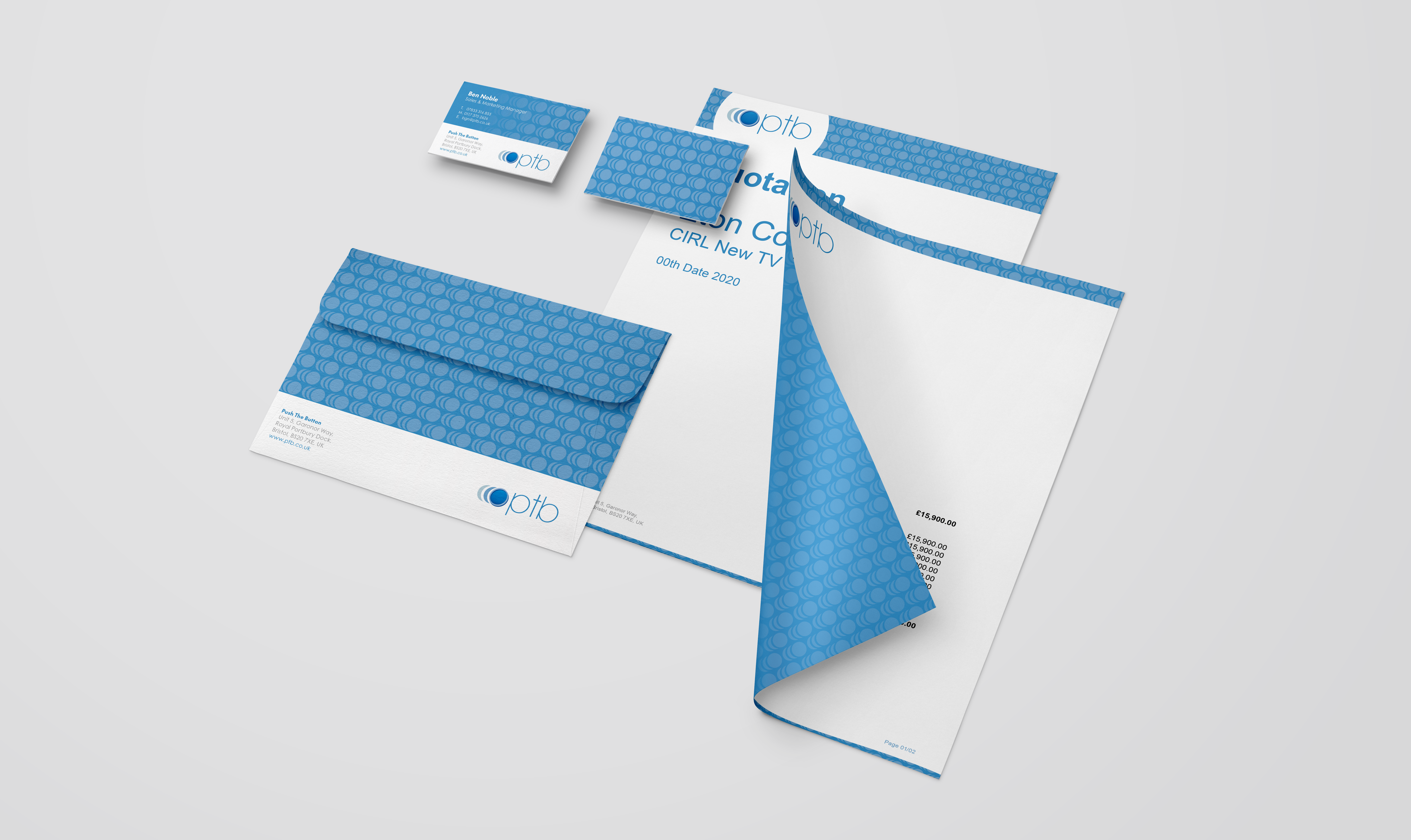 Push the Button corporate branding set