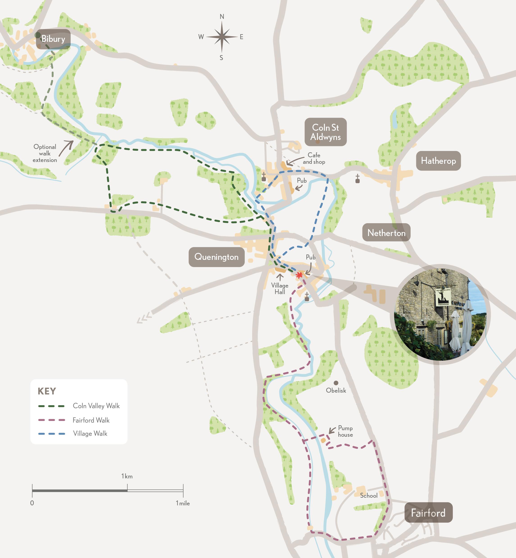Quenington River Valley Walks leaflet