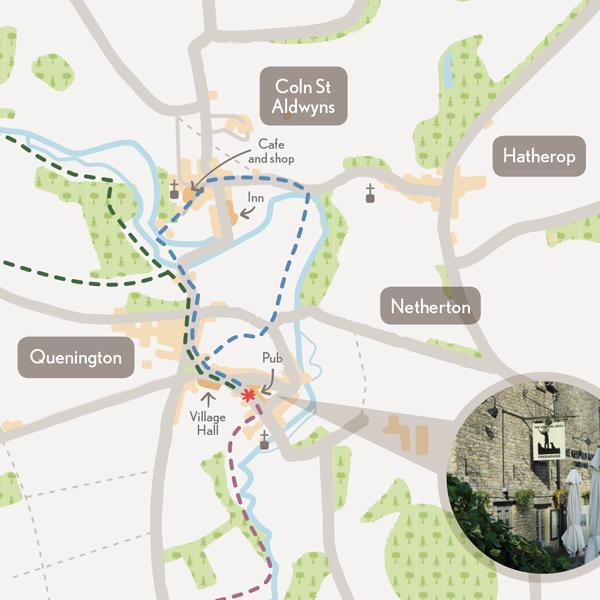 Quenington River Valley Walks map