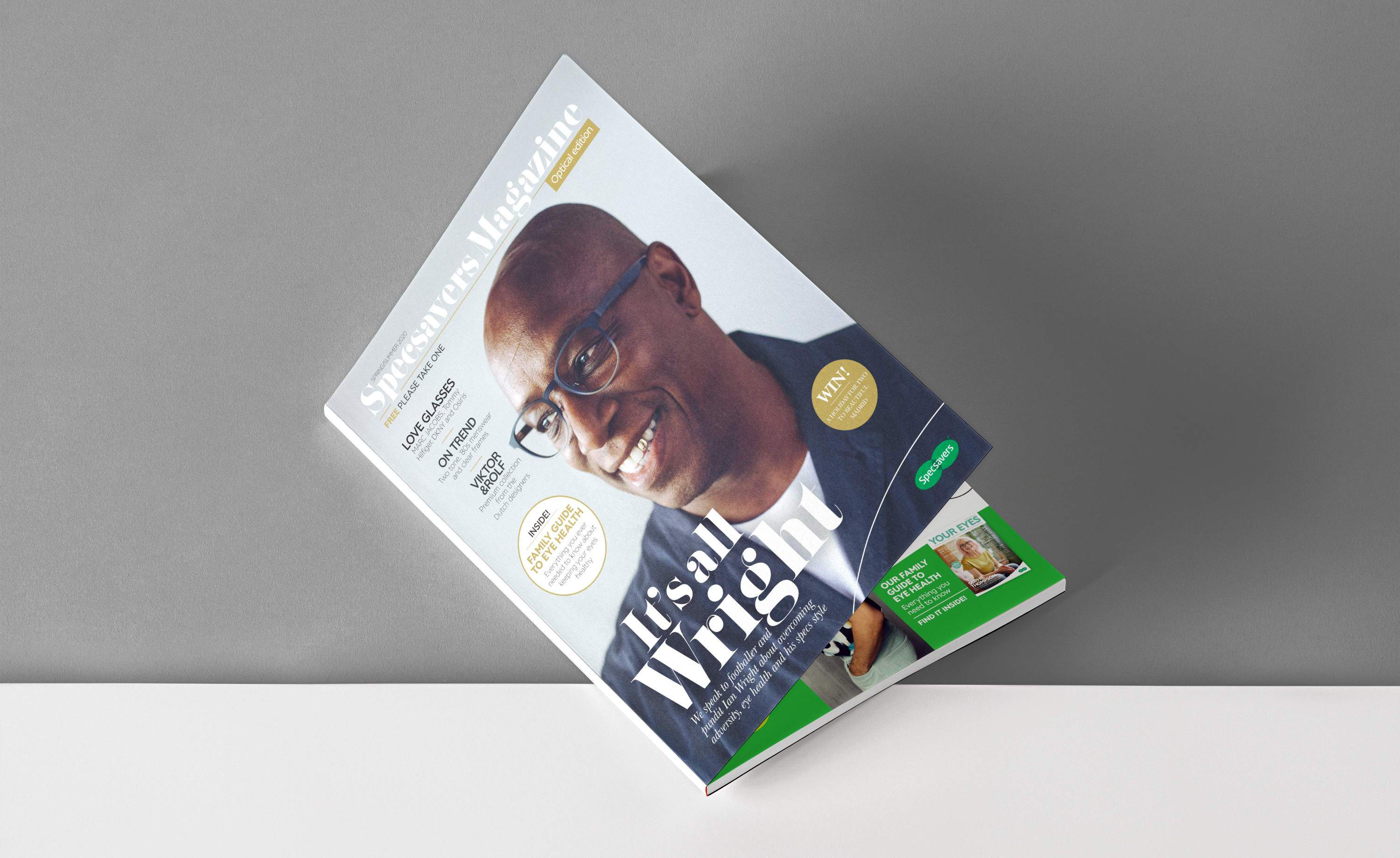 Specsavers Magazine - Front cover featuring Ian Wright