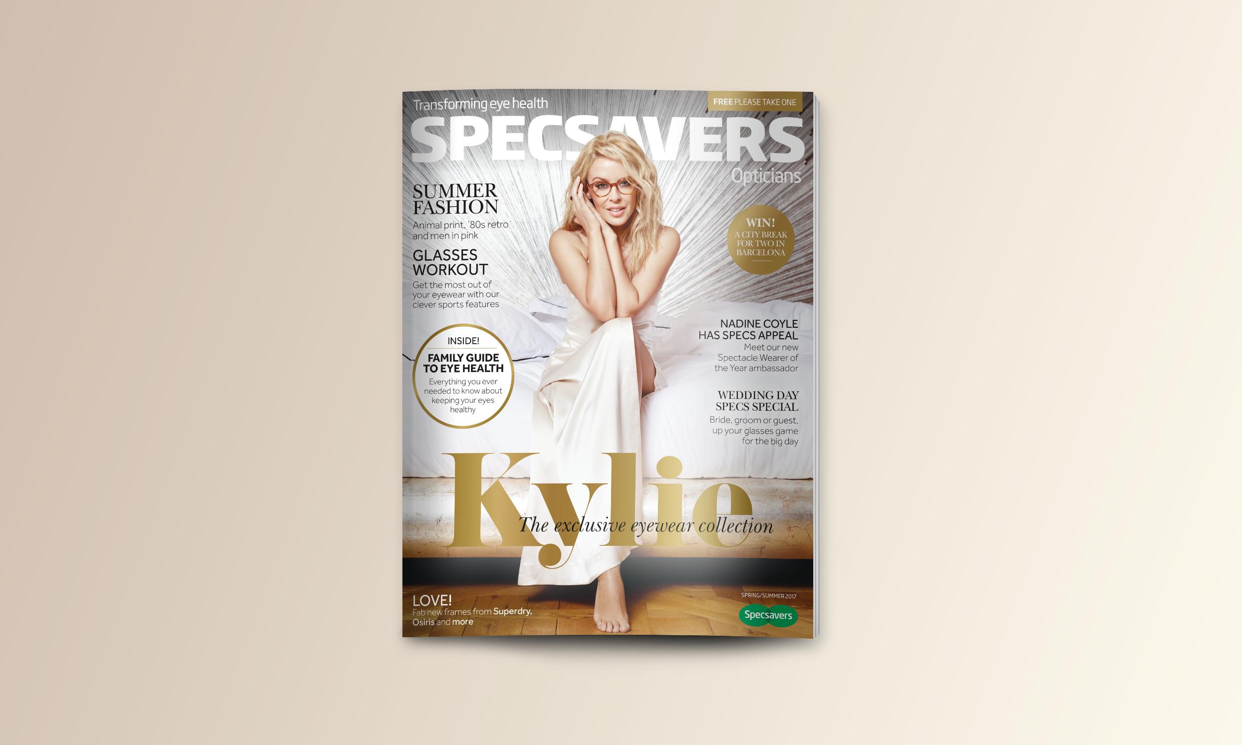 Specsavers Magazine - Kylie minogue Cover