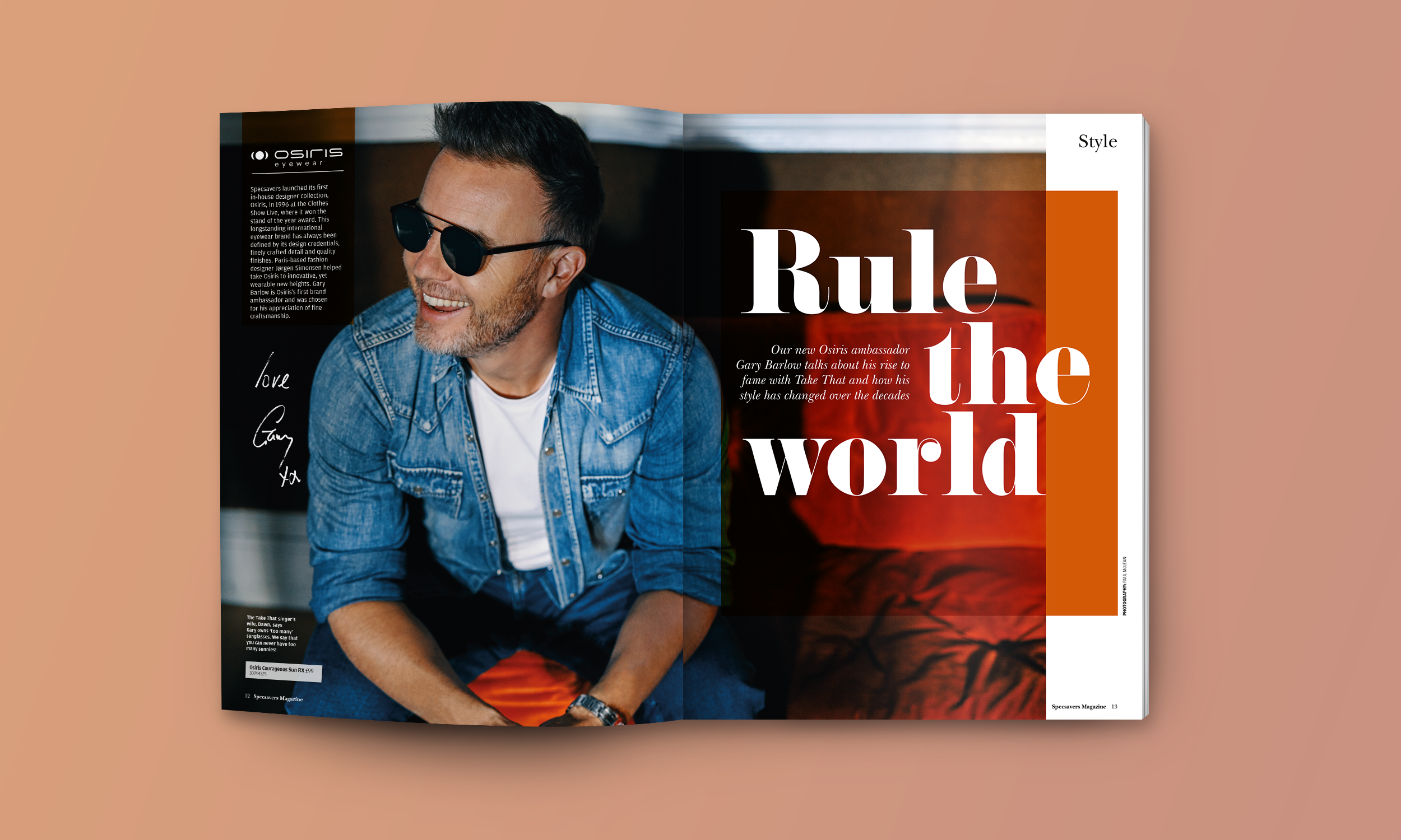 Specsavers Magazine - Gary Barlow Feature