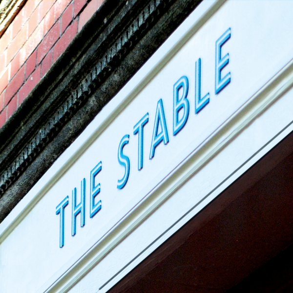 The Stable Logo on the Studio frontage