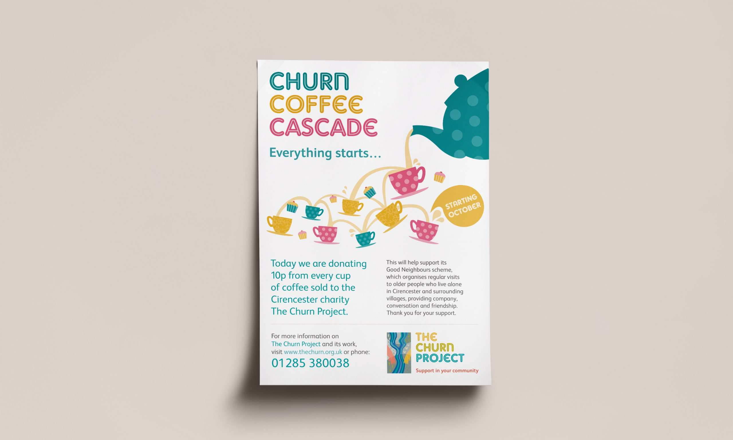 The Churn Project - Charity poster