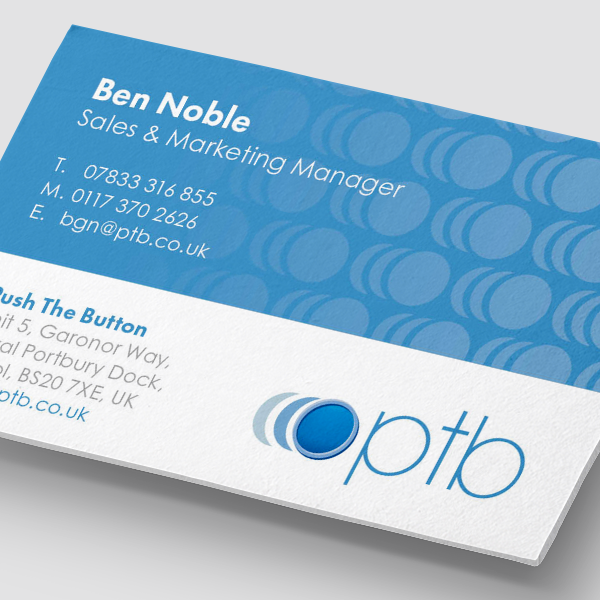 Push the Button - Business card