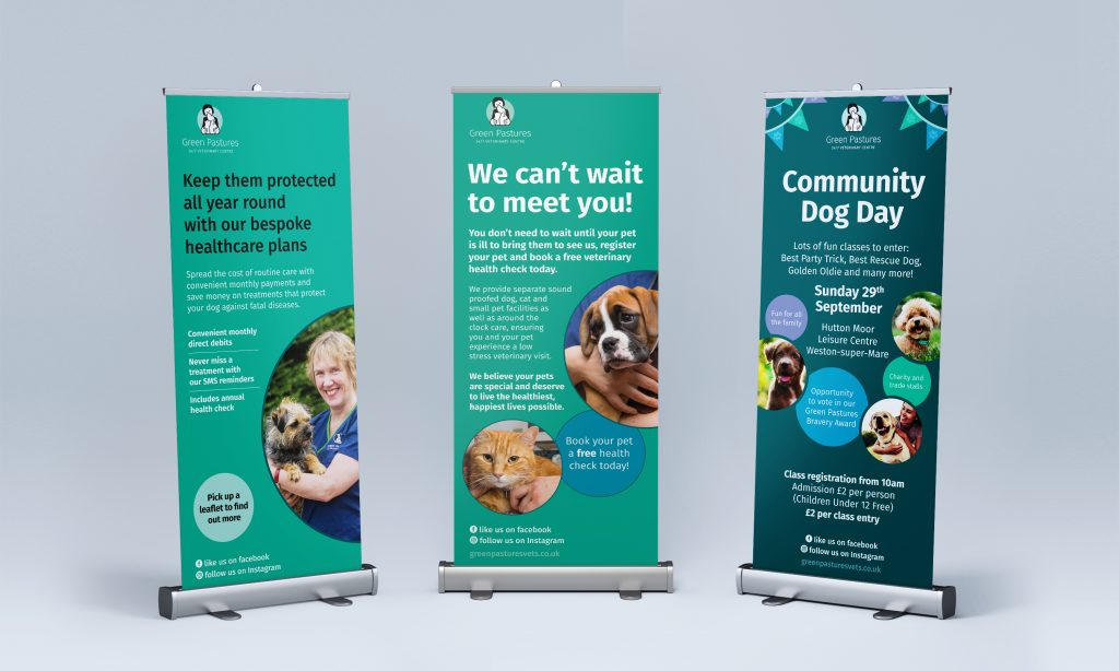 Green Pastures Vets - Pull-up banners