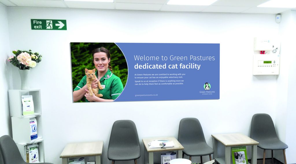 Green Pastures Vets - large format poster