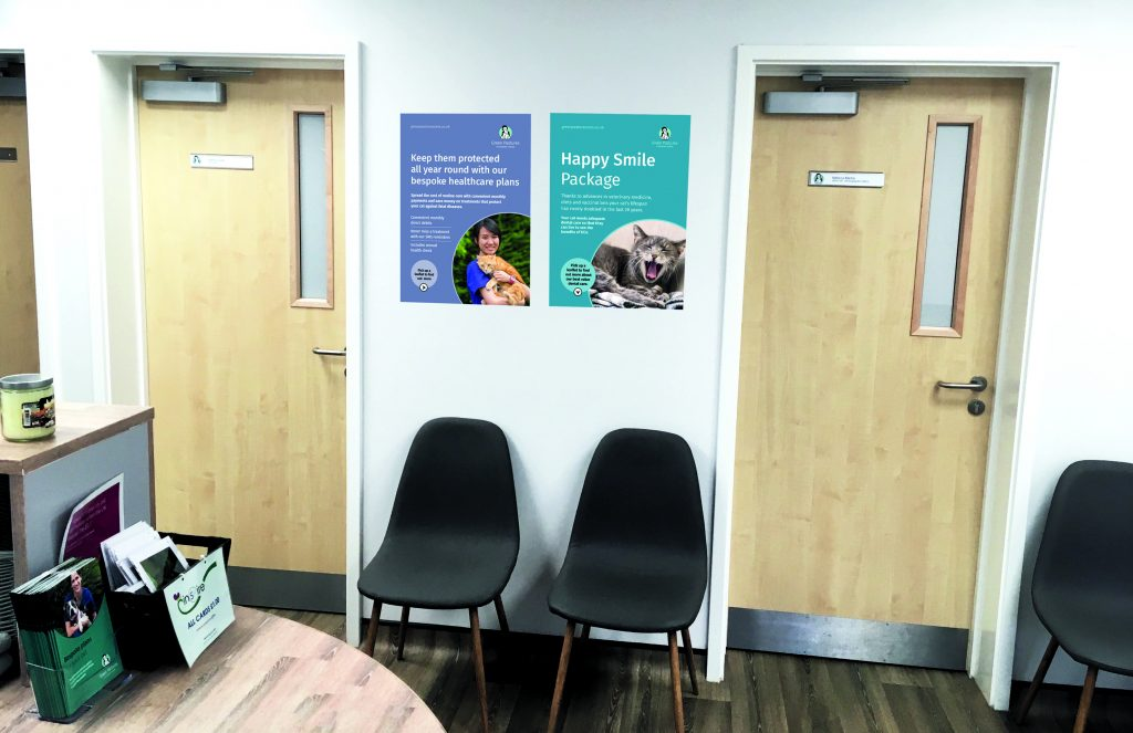 Green Pastures Vets large format posters promoting services